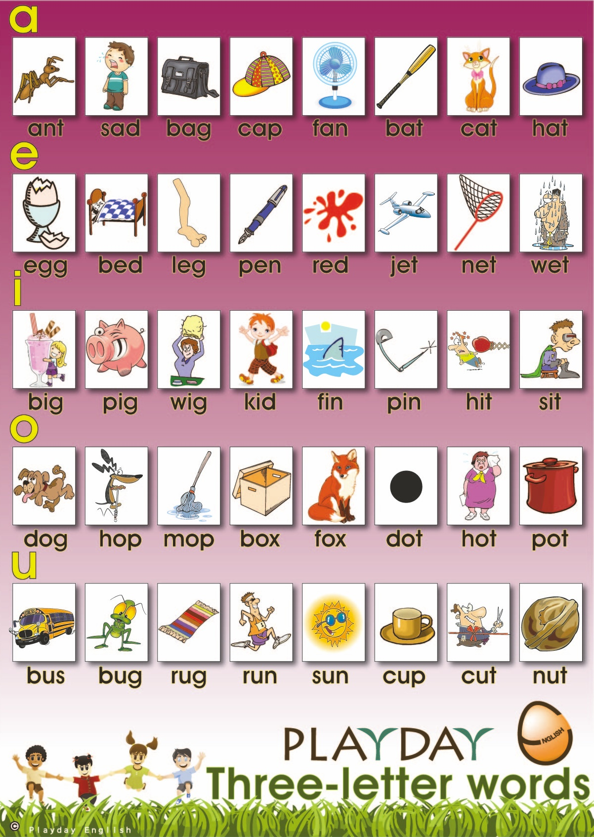 Three Letter Words In English Alphabetical Order   Photos Alphabet